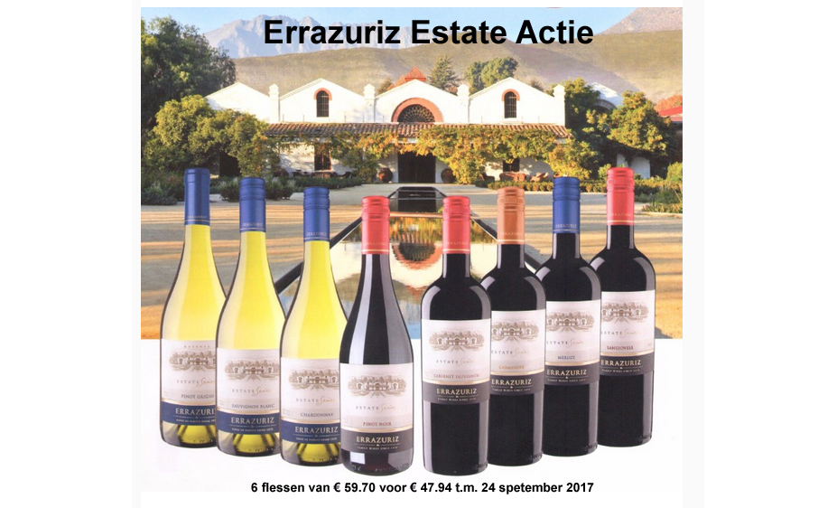 Errazuriz Estate Chili wijnen actie 2017